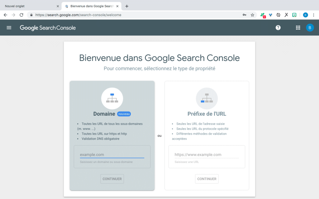 https://search.google.com/search-console/